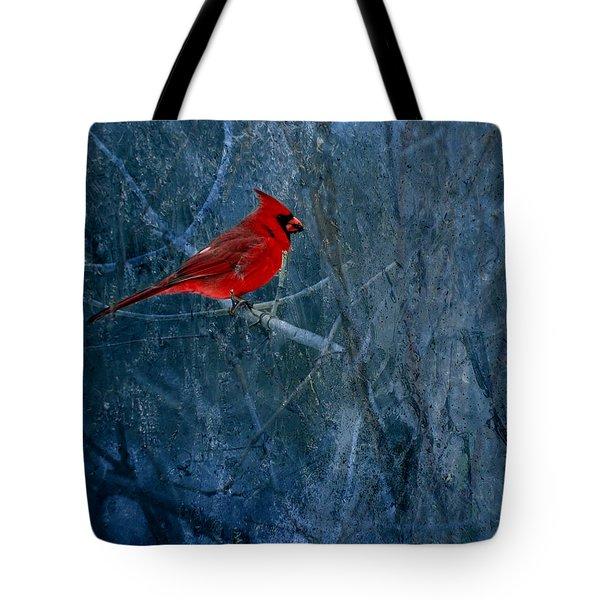 Northern Cardinal Tote Bag by Thomas Young
