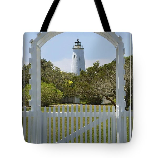 Ocracoke Island Lighthouse Tote Bag by Mike McGlothlen