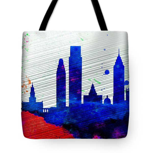 Philadelphia City Skyline Tote Bag by Naxart Studio