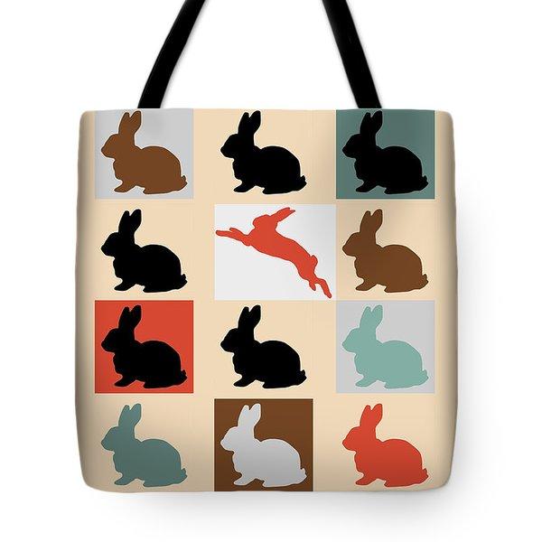 Rabbits Tote Bag by Mark Ashkenazi