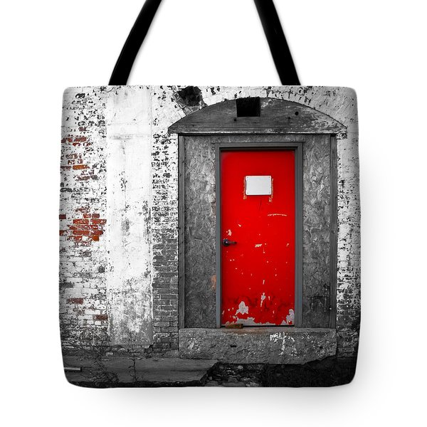 Red Door Perception Tote Bag by Bob Orsillo