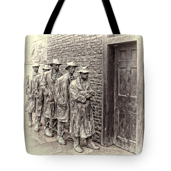 The Bread Line Sculpture Tote Bag by Jack Schultz