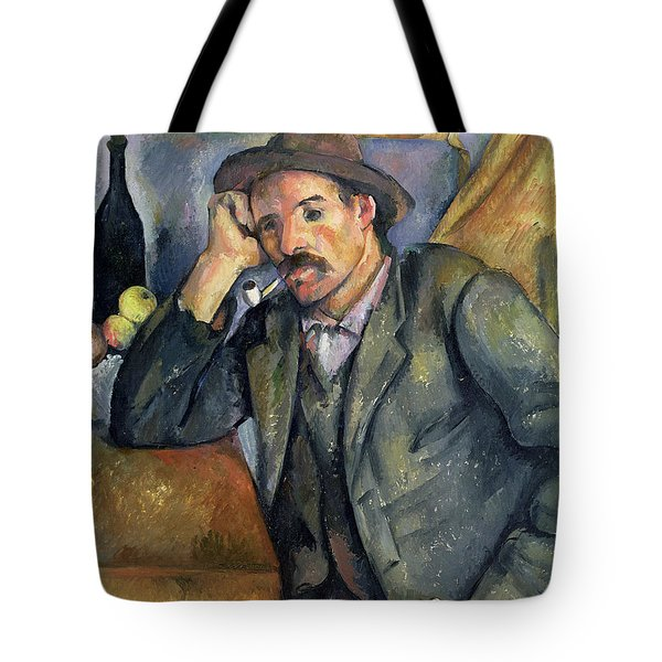 The Smoker Tote Bag by Paul Cezanne