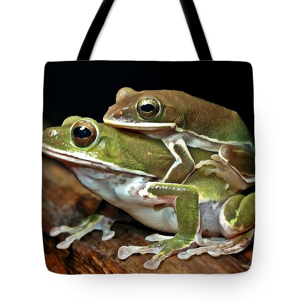Tree Frog Tote Bag by Lanjee Chee
