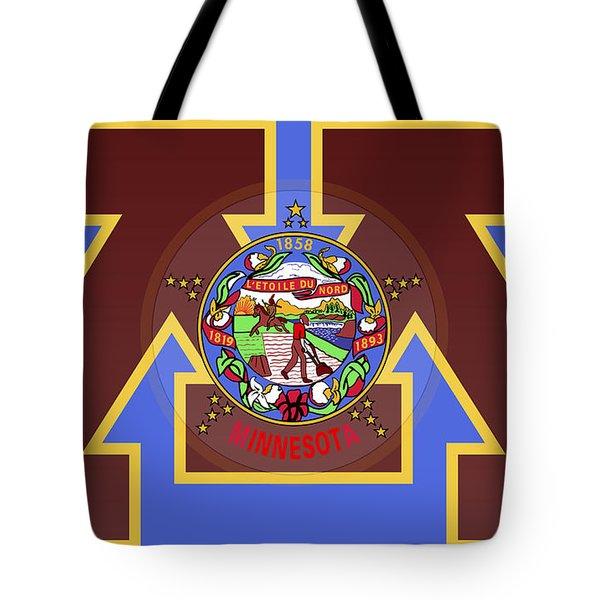 U Of M Minnesota State Flag Tote Bag by Daniel Hagerman