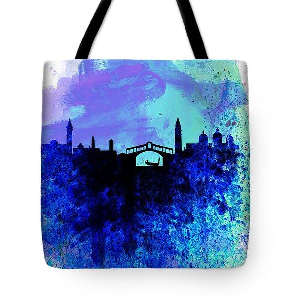 Venice Watercolor Skyline Tote Bag by Naxart Studio