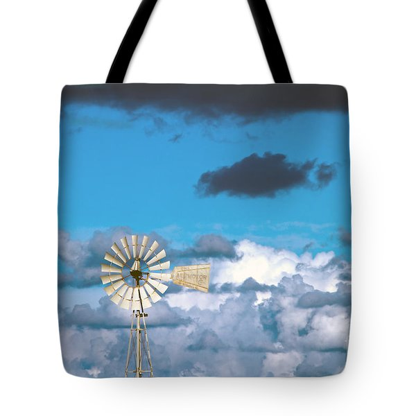 Water Windmill Tote Bag by Stelios Kleanthous
