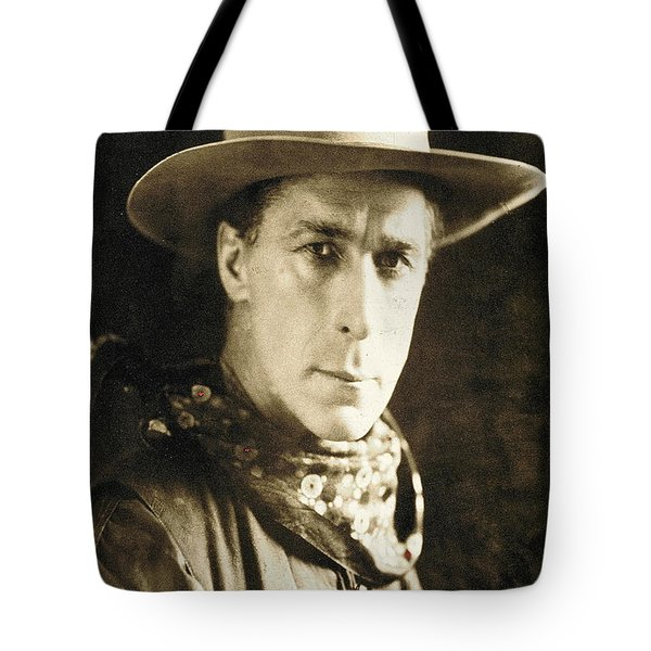 William S. Hart Portrait C.1918 Nelson Miles Photographer Virginia City Montana 1971 Tote Bag by David Lee Guss
