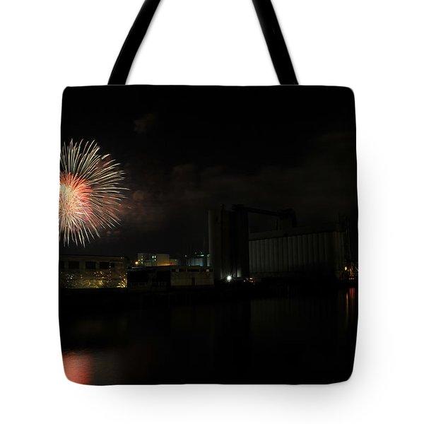 0015 ...the Bombs Bursting In Air...4jul13 Series Tote Bag by Michael Frank Jr