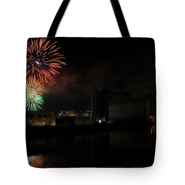 0020 ...the Bombs Bursting In Air...4jul13 Series Tote Bag by Michael Frank Jr