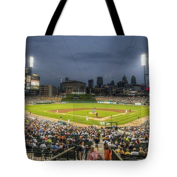 0101 Comerica Park - Detroit Michigan Tote Bag by Steve Sturgill