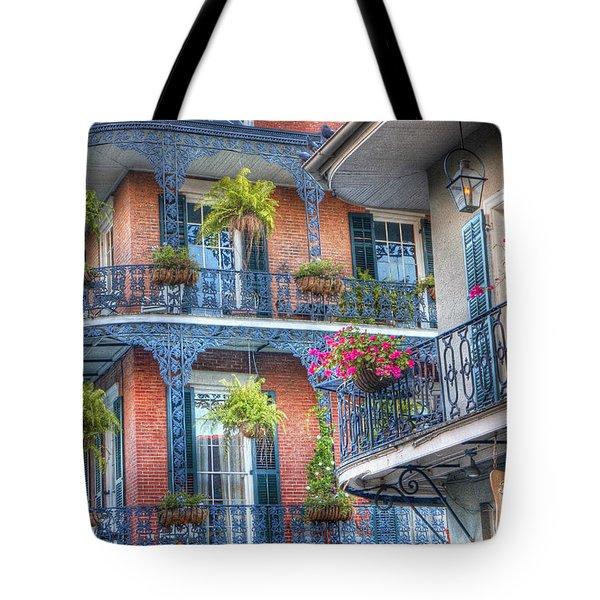 0255 Balconies - New Orleans Tote Bag by Steve Sturgill