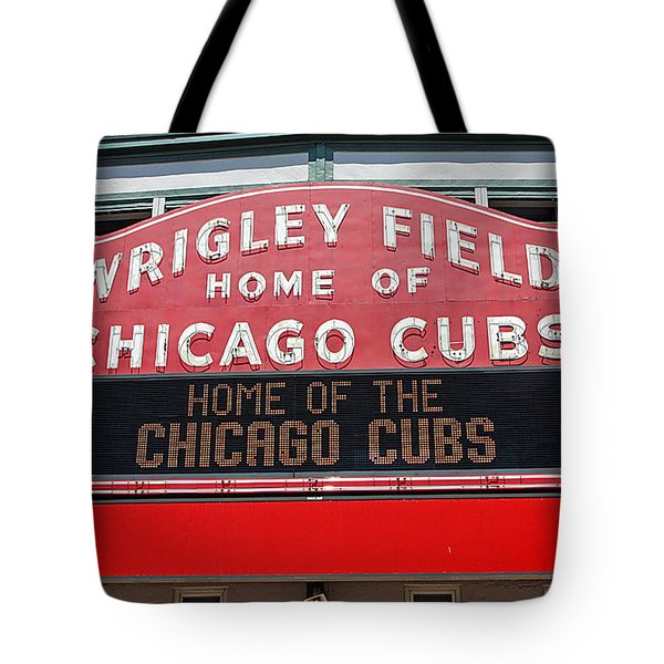 0334 Wrigley Field Tote Bag by Steve Sturgill