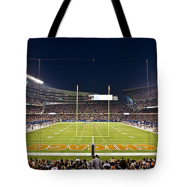 0587 Soldier Field Chicago Tote Bag by Steve Sturgill
