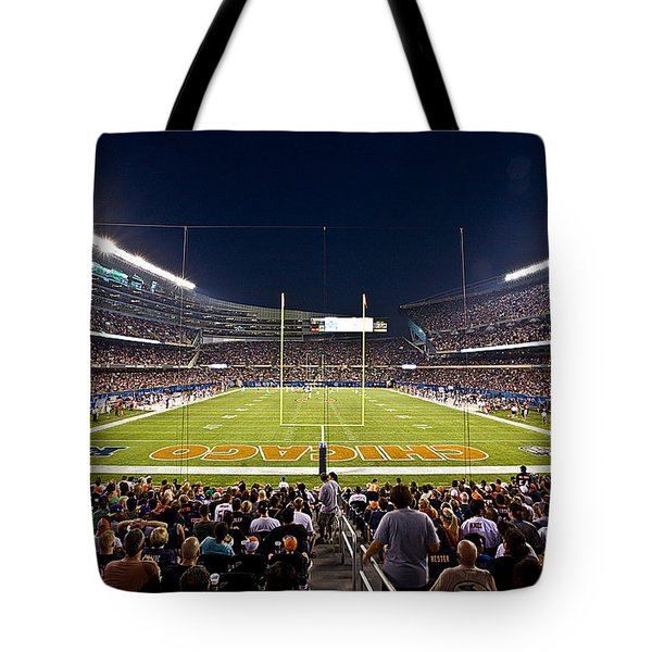 0588 Soldier Field Chicago Tote Bag by Steve Sturgill