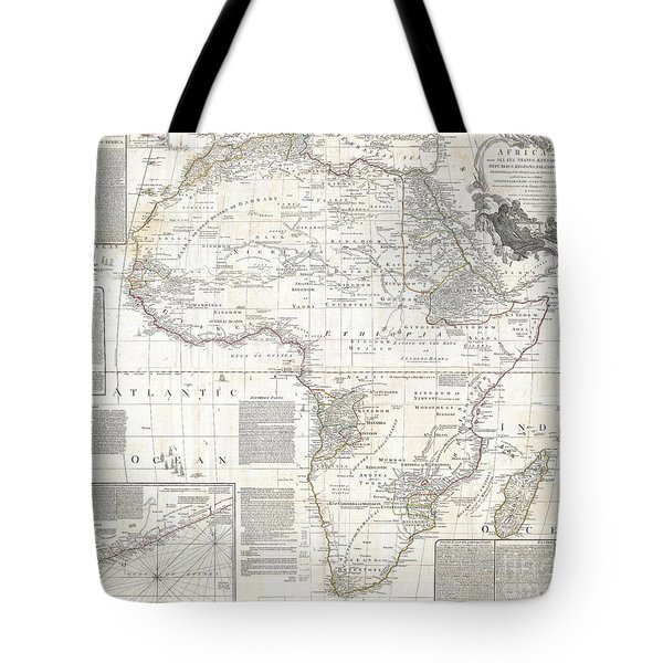 1794 Boulton And Anville Wall Map Of Africa Tote Bag by Paul Fearn