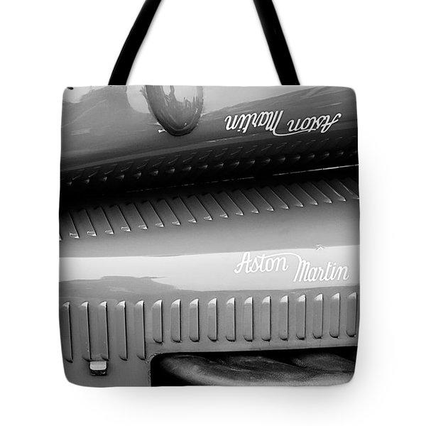 1935 Aston Martin Ulster Race Car Hood Tote Bag by Jill Reger