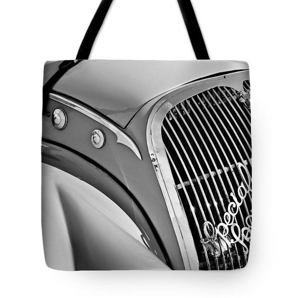 1937 Peugeot 402 Darl'mat Legere Special Sport Roadster Recreation Grille Emblem Tote Bag by Jill Reger