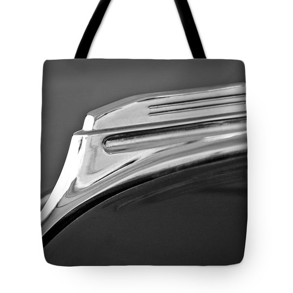 1938 Oldsmobile RJ8 Club Coupe Hood Ornament Tote Bag by Jill Reger