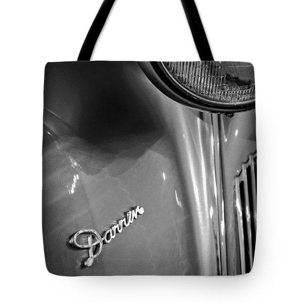1940 Packard Super Eight One-eighty Darrin Convertible Sedan Headlight Emblem Tote Bag by Jill Reger