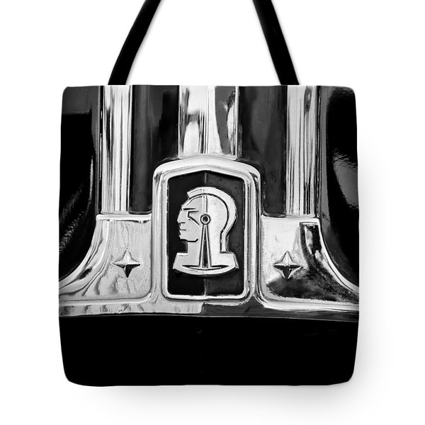 1948 Pontiac Streamliner Woodie Station Wagon Emblem Tote Bag by Jill Reger