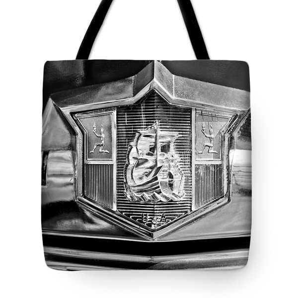 1949 Plymouth P-18 Special Deluxe Convertible Emblem Tote Bag by Jill Reger