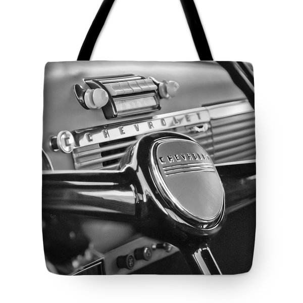 1950 Chevrolet 3100 Pickup Truck Steering Wheel Tote Bag by Jill Reger