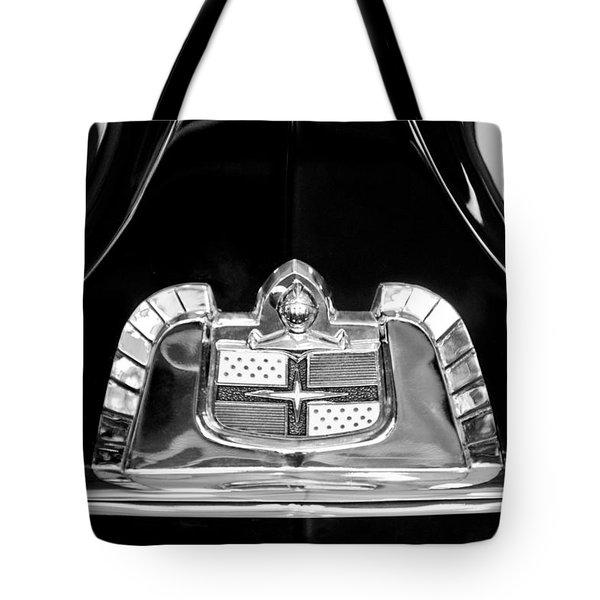 1950 Lincoln Cosmopolitan Limousine Emblem Tote Bag by Jill Reger