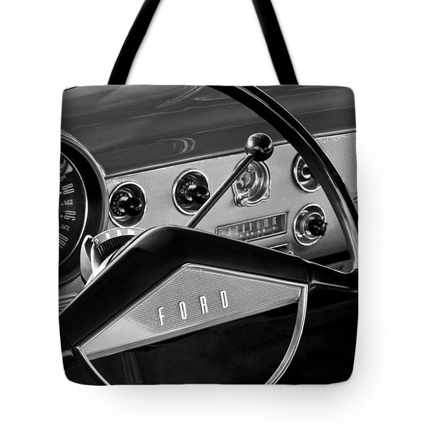 1951 Ford Crestliner Steering Wheel Tote Bag by Jill Reger
