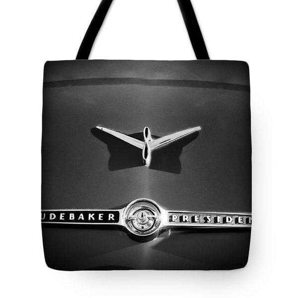 1955 Studebaker President Emblem Tote Bag by Jill Reger