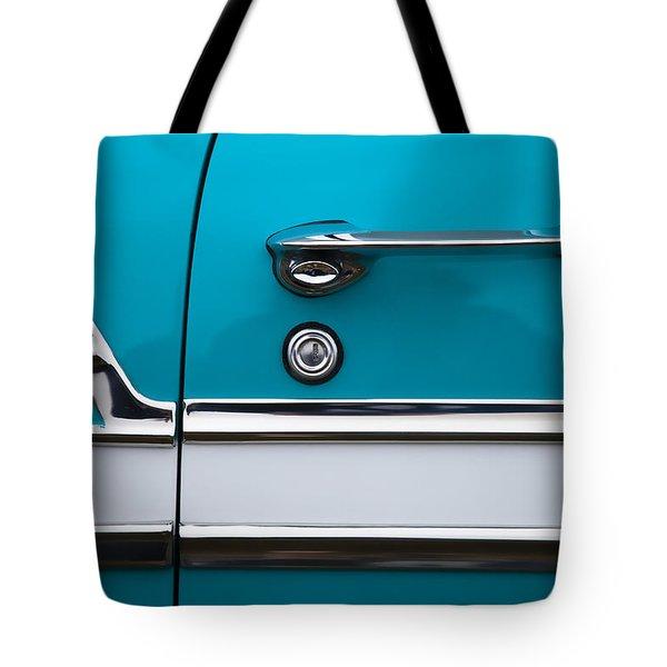 1956 Chevrolet Bel Air Tote Bag by Carol Leigh