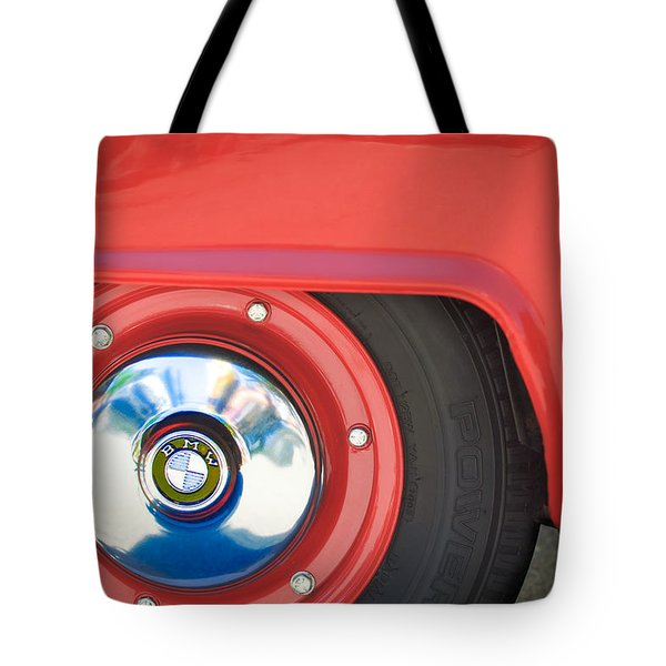 1958 Bmw Isetta 300 Wheel Emblem Tote Bag by Jill Reger