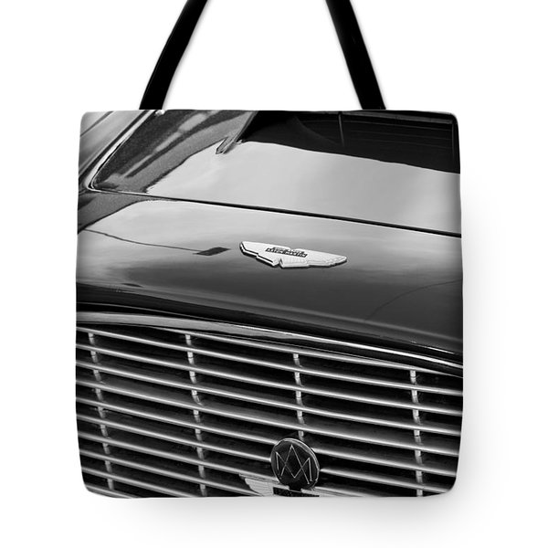 1960 Aston Martin Db4 Grille Emblem Tote Bag by Jill Reger