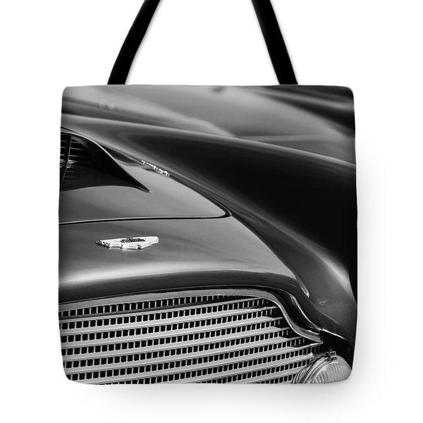 1960 Aston Martin DB4 Series II Grille - Hood Emblem Tote Bag by Jill Reger