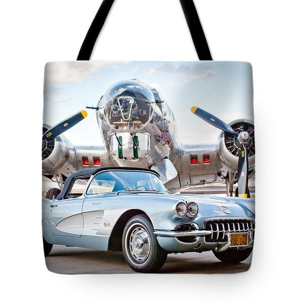 1960 Chevrolet Corvette Tote Bag by Jill Reger