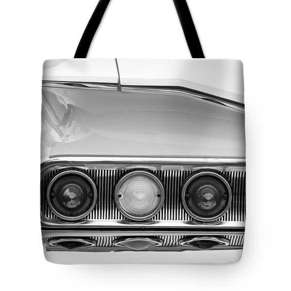 1960 Chevrolet Impala Tail Lights Tote Bag by Jill Reger