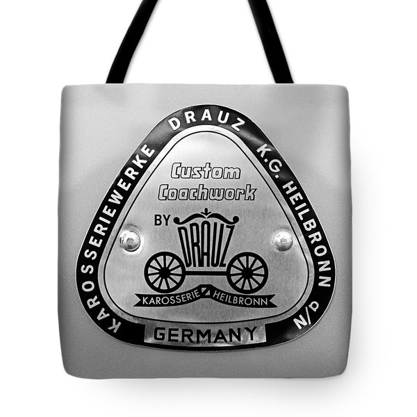1960 Porsche 356 B 1600 Super Roadster Emblem Tote Bag by Jill Reger