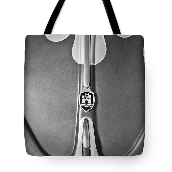 1960 Volkswagen VW Bug Hood Emblem Tote Bag by Jill Reger