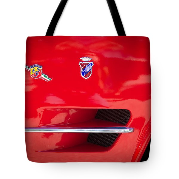1962 Fiat Abarth 2300 S Coupe Emblems Tote Bag by Jill Reger