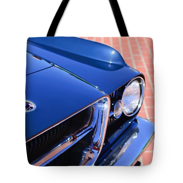 1962 Ghia L6.4 Coupe Grille Emblem Tote Bag by Jill Reger