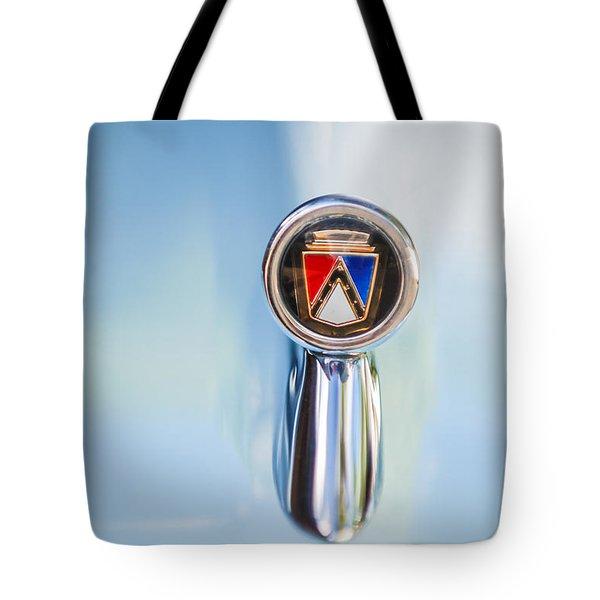 1963 Ford Falcon Futura Convertible  Hood Ornament Tote Bag by Jill Reger
