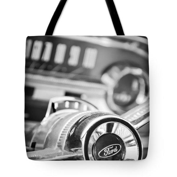 1963 Ford Falcon Futura Convertible Steering Wheel Emblem Tote Bag by Jill Reger