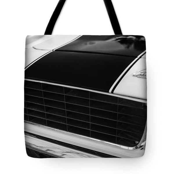 1969 Chevrolet Camaro RS-SS Indy Pace Car Replica Grille - Hood Emblems Tote Bag by Jill Reger