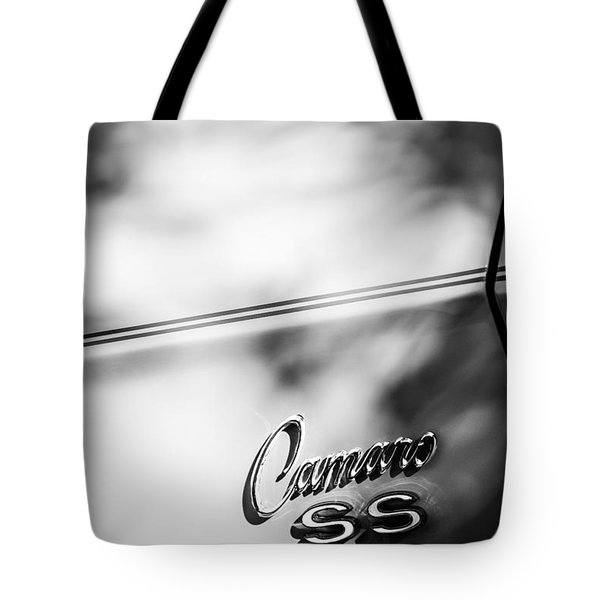 1969 Chevrolet Camaro RS-SS Indy Pace Car Replica Side Emblem Tote Bag by Jill Reger