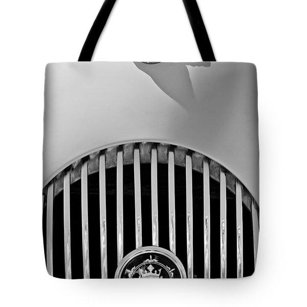 1969 Morgan Roadster Grille Emblems Tote Bag by Jill Reger