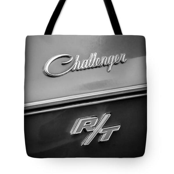 1970 Dodge Challenger RT Convertible Emblem Tote Bag by Jill Reger