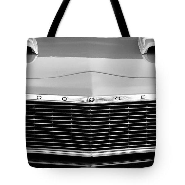 1975 Dodge Dart Swinger Grille Tote Bag by Jill Reger