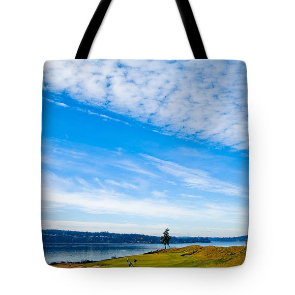 #2 at Chambers Bay Golf Course - Location of the 2015 U.S. Open Tournament Tote Bag by David Patterson