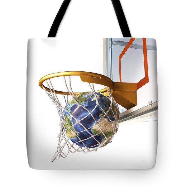 3d Rendering Of Planet Earth Falling Tote Bag by Leonello Calvetti