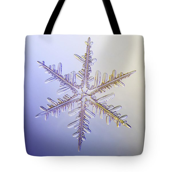 A Real Snowflake Showing The Classic Tote Bag by Marion Owen